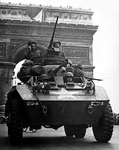 M8 Tank in Paris WWII
